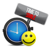 Czas ono Uśmiechać się i szczęśliwa twarz royalty ilustracja