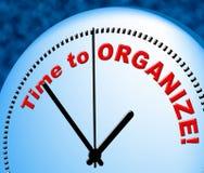 Czas Organizować sposoby At The Moment I Układający ilustracja wektor