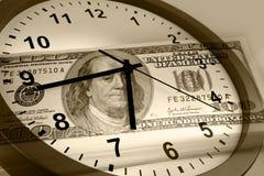 Czas pieniądze pojęciem jest Obrazy Stock