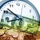 Czas pieniądze pojęciem jest Zdjęcia Stock