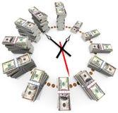 czas, pieniądze Fotografia Stock