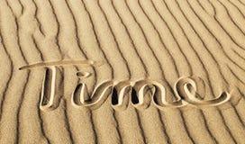 Czas Pisać w piasku przy Wielkim piasek diun parkiem narodowym i P Zdjęcie Royalty Free