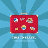 Czas Podróżować podróży Plakatową Wektorową ilustrację Obrazy Royalty Free