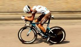 Czas próby cyklista Zdjęcie Royalty Free