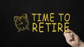 Czas Przechodzić na emeryturę pojęcie na Blackboard Biznesmena writing czas PRZECHODZIĆ NA EMERYTURĘ na Blackboard Zdjęcie Royalty Free
