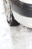 czas samochodowa zima Zdjęcia Royalty Free