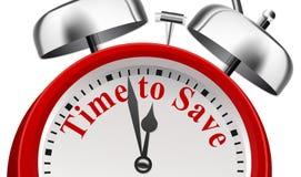 Czas Save zawiadomienia pojęcie Zdjęcia Stock