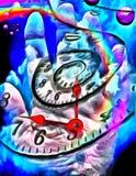 Czas spirala i ludzka ręka royalty ilustracja
