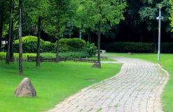 Czas wolny ścieżka w parku Obraz Royalty Free