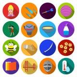 Czas wolny, hobby, kosmetologia i inna sieci ikona, royalty ilustracja
