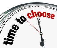 Czas Wybierać - zegar Przypomina Decydować ilustracja wektor