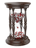 Czasu życia hourglass z pigułkami obrazy stock