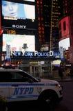 Czasu kwadrata policja Fotografia Royalty Free