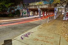 Czasu Lapes Krog Uliczny tunel Atlanta dziąsła obraz stock