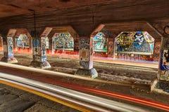 Czasu Lapes Krog Uliczny tunel Atlanta dziąsła zdjęcia stock