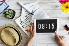 Czasu Nominacyjnego rozkładu Punktualny Graficzny pojęcie Zdjęcie Stock