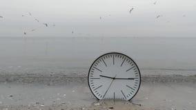 Czasu pojęcia tło, Ścienny zegar w piasku, Lata Dennych frajerów zbiory wideo