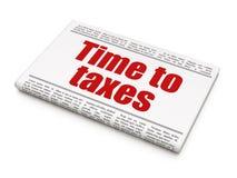 Czasu pojęcie: nagłówka prasowego czas podatki Zdjęcie Royalty Free