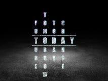 Czasu pojęcie: słowo Dzisiaj w rozwiązywać Crossword ilustracji