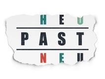 Czasu pojęcie: słowo Past w rozwiązywać Crossword Fotografia Stock