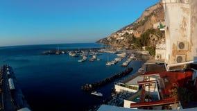 Czasu upływ Amalfi schronienie przy świtem zbiory