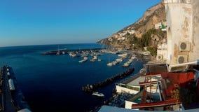 Czasu upływ Amalfi schronienie przy świtem zdjęcie wideo