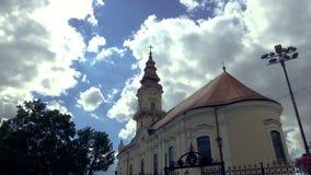 Czasu upływ chmury nad ortodox kościół zbiory wideo
