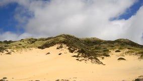Czasu upływ chmury przechodzi nad piasek diuną zbiory wideo