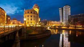 Czasu upływ Donaukanal Wiedeń, Austria (Danube kanał) zdjęcie wideo