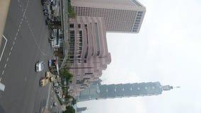 Czasu upływ miasto widok Taipei przy zmierzchem, Tajwan zdjęcie wideo