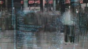 Czasu upływ ruchliwa ulica i programów kody zdjęcie wideo
