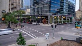 Czasu upływ ruchliwa ulica w Calgary zdjęcie wideo