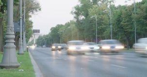 Czasu upływ samochodu jeżdżenia puszek główna miasto ulica zbiory