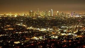Czasu upływ strzelał miasto Los Angeles nocą zbiory wideo