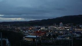 Czasu upływ Szwajcaria miasto podczas zmierzchu zbiory wideo