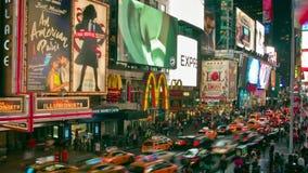 Czasu upływ times square, Miasto Nowy Jork, usa zbiory wideo