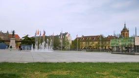 Czasu upływ w Colmar, Francja zbiory wideo