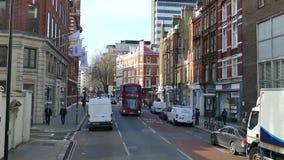 Czasu upływ z Londyńskim ruchem drogowym zbiory wideo