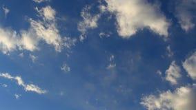 Czasu upływu Białe bufiaste chmury zbiory wideo