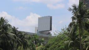 Czasu upływu billboard na widoku gotowym prosto zbiory