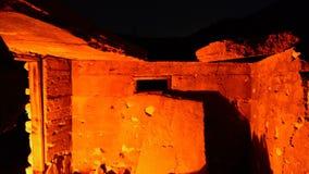 Czasu upływu Dolly zapamiętanie budynku ruiny przy nocą zbiory