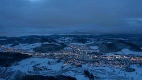 Czasu upływu noc ranek Szwecja zdjęcie wideo