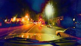 Czasu upływu pośpiechu nocy drogowy chaos zbiory wideo