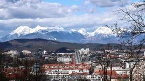 Czasu upływu przegląd widzieć od kasztelu Ljubljana zbiory wideo