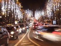 Czasu upływu ruch drogowy w centrum miasta zbiory