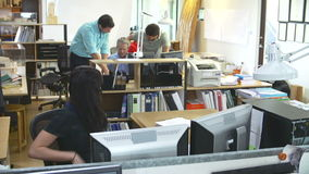 Czasu upływu sekwencja Ruchliwie architekta biuro zdjęcie wideo