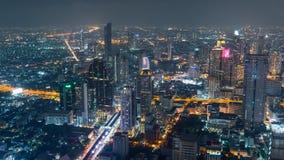 Czasu upływu Wysoki widok Bangkok miasto zbiory