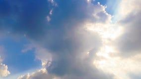 Czasu upływu zmierzch i chmury zbiory wideo