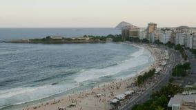 Czasu up?yw Copacabana pla?a, Rio De Janeiro, Brazylia przegl?da? z g?ry zbiory wideo