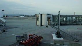 Czasu upływ przy Oslo lotniskiem zbiory wideo